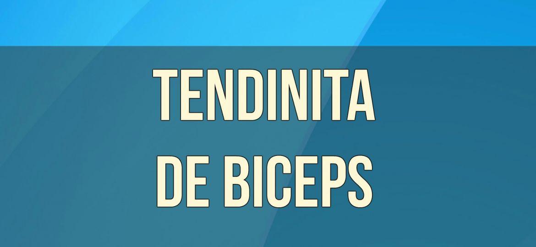 TENDINITA DE BICEPS